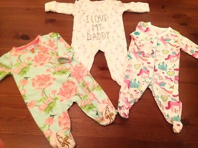 Girls Next Up To 1 Month  & Ted Baker 0-3 Month Sleepsuits -