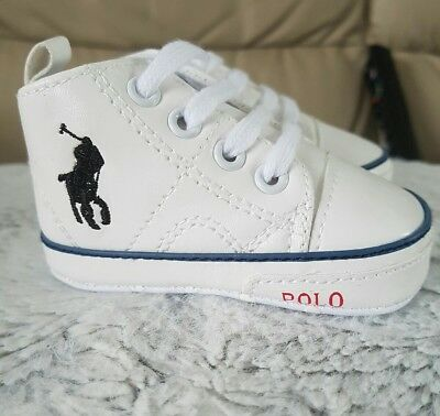 polo baby pram shoes designer inspired trainers boy girl 0,3,6,9,12,18 month uk