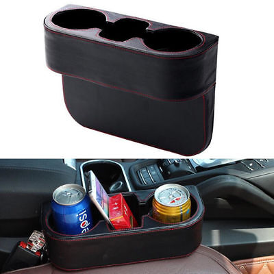 PU Universal Dual Car Cup Holder Van Storage Drinking Bottle Can Mug Mount Stand