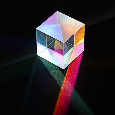 20x20mm Color Combination Optical Cross Prism Square Cube Teaching Tool Decor