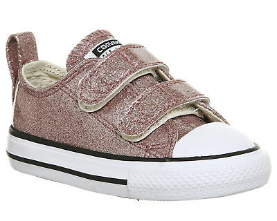 38b18d2264e1fa KIDS CONVERSE ALL Star 2vlace ROSE GOLD GLITTER Kids - EUR 27