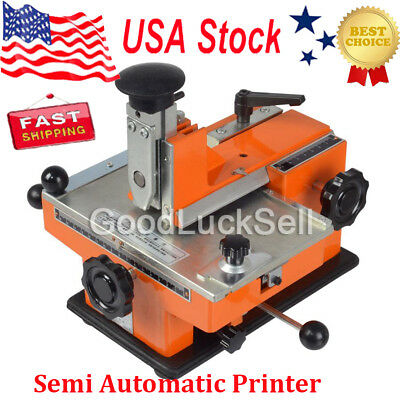 New Semi Auto Deboss Metal Label Tag Stamping Printer Tag Marking Machine USA