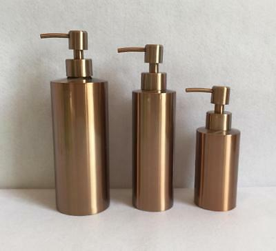 Rose Gold Bathroom Shower Soap Dispenser Liquid Shampoo Bottle Free Standing 304