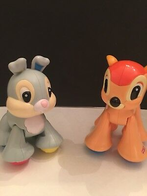 Bambi and Thumper Figures Fisher Price Disney Amazing Animals Imagination Play