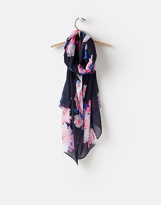 Joules 124755 Womens Wensley Scarf in French Navy Nautical Posy in One Size