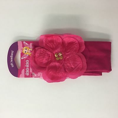 102 x Girls super soft pink Head band with pink flower headband bandeau RRP £255