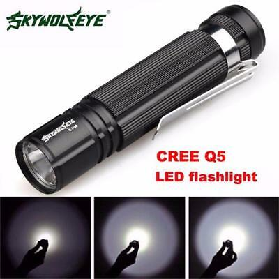 1200LM Mini Flashlight Torch 7W CREE Q5 LED Light 14500/AA Lamp Waterproof Nice