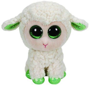 TY Beanie Boos LALA LAMB REGULAR New With Tag Smoke Pet Free Environment EASTER