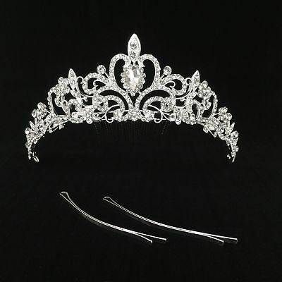 Women Bridal Princess Tiara Crown with Comb for Weddings Parties Special Events