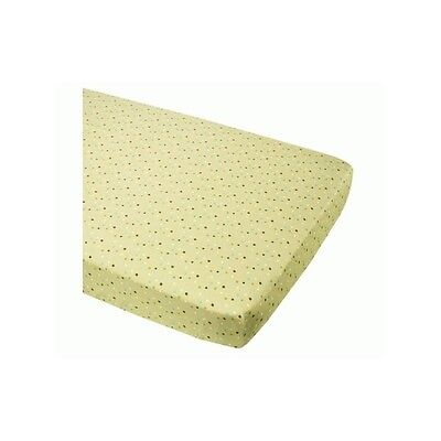 2x SUMMER INFANT BREATHE EASY FITTED COT / COTBED SHEET GREEN STAR DOT