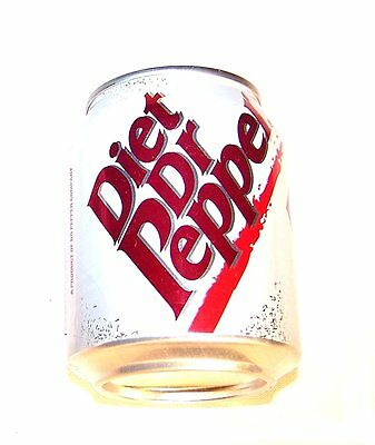 Vintage Diet Dr. Pepper 8oz Mini Tab Top Soda Pop Can A1+ Flat Sign Beer MkOfr
