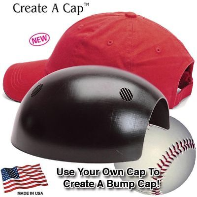 ERB Black Bump Cap Insert with Foam Pad Fits Inside Low Profile Baseball