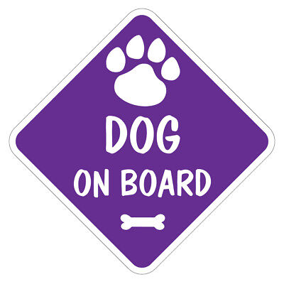 GENERIC DOG ON BOARD Vinyl Car Van Sticker or Sign and Sucker Dog Pet Lover