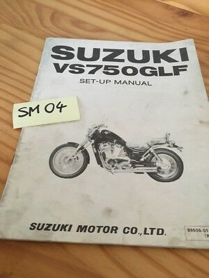 Suzuki VS750GLF VS750 Intruder VS instruction preparation setup manuel montage
