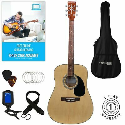 Acoustic Guitar Package, Stretton Payne D1, Steel String Dreadnought, Natural