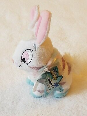 "Neopets Striped Cybunny 7"" Stuffed Plysh Toy"