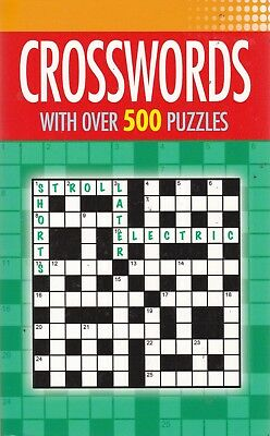 Crossword Puzzle Book 500 Puzzles - New Paperback Book