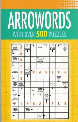 Arrowords (Arrow Word) Puzzle Book 500 Puzzles - New Paperback Book