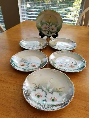 """Vintage Fine China by Germany 6"""" Bread & Butter Plates; Set of 6; Germany"""