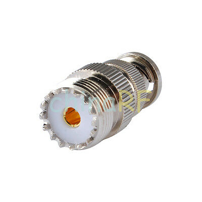 SO239 UHF Female To BNC Male RF Adaptor for Radio Scanner and Transceiver