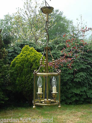pretty  vintage French brass cylindrical  lantern    (T185)