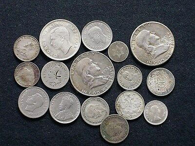 Lot of 13 Assorted Silver World and US coins   CC8696