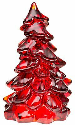 """Christmas Holiday Tree - Red Glass - Mosser USA - New Size - Large 8"""""""
