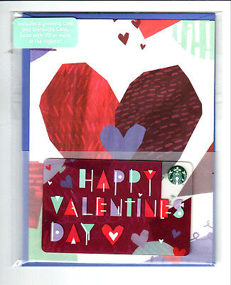 Starbucks Card 2018 Happy Valentines rare greeting card MINT