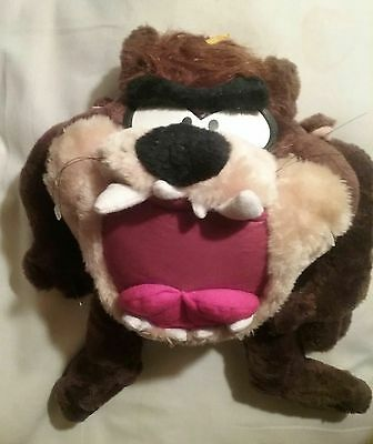 Big HTF 1995 Looney Toons Big TAZ Tasmainian Devil 17 Inch Plush