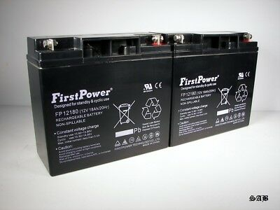 (2) FirstPower  12V 18AH T1 for DR Field and Brush Mower