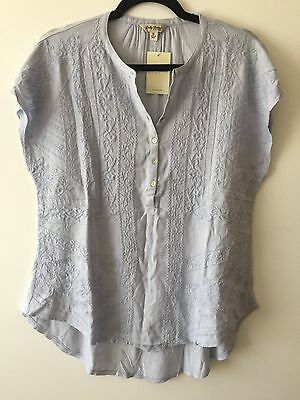 Lucky Brand Women'S Embroidered Smock Blouse/top: Style #7W62766 -- Medium