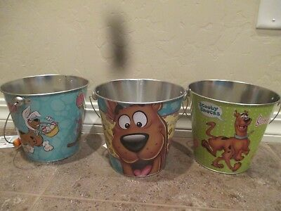 Three Scooby Doo Metal Easter Baskets