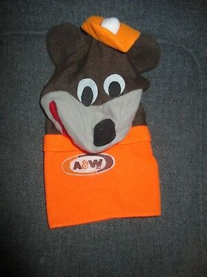 WOW Nice Vintage A&W Root Beer Plush Bear Puppet Promo Toy Rare