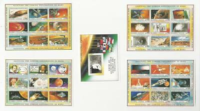 Sierra Leone, Postage Stamp, #1167-1171 Sheets Mint NH, 1990 Space, Mars