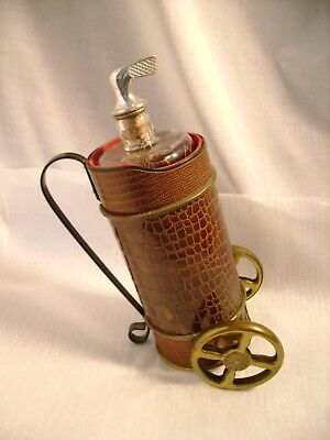 Vintage Musical Golf Bag Liquor Decanter Alligator Brass 1960's How Dry I Am