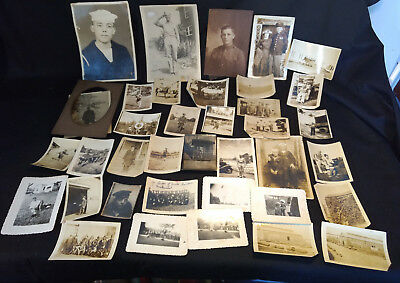 Lot of 36 Old Vtg Collectible Black & White WW2 Military Photograph Pictures