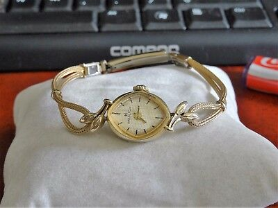 Vintage Hamilton 14K Gold Ladies Watch w/ 1/40 10K Rolled Gold Plated Band!