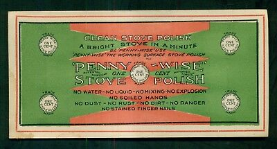 "1910 ""Penny-Wise"" One Cent Stove Polish Advertising Flier/Coupon"
