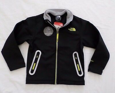 New The North Face Kids Boys Apex Bionic Softshell Jacket Black Size XS 6