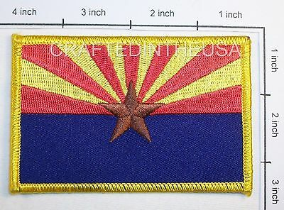 Arizona State Flag Embroidered Patch Sew Iron On Biker Vest Applique Emblem New