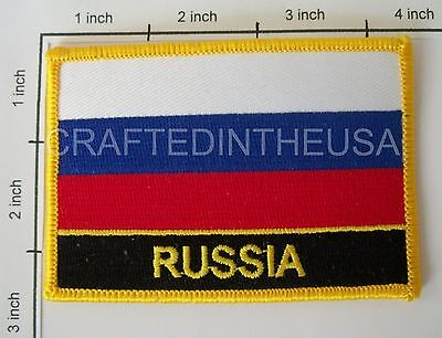 Russia Country Flag Embroidered Patch Sew Iron On Biker Vest Applique Emblem New