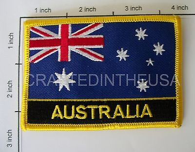 Australia Country Flag Embroidered Patch Sew Iron On Biker Vest Applique Emblem