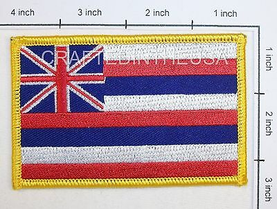 Hawaii State Flag Embroidered Patch Sew Iron On Biker Vest Applique Emblem New