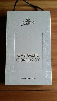 SCABAL: Cashmere Corduroy , Stoffe Stoffmuster Mappe Special Selection