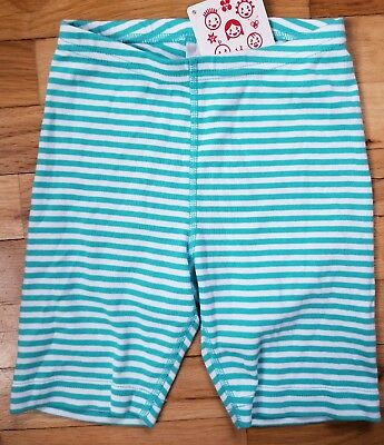Nwt Hanna Andersson Blue White Stripe Loose Cotton Bike Shorts 110 4 5 6