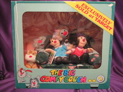 Big Comfy Couch Molly & Friends on Couch 1997 Target Exclusive in Box mini sofa