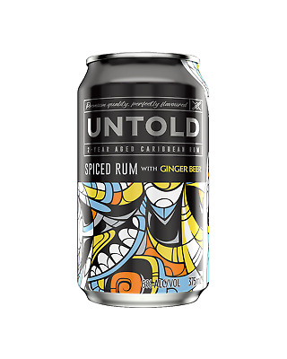 Untold Spiced Rum & Ginger Beer Cans 375mL case of 24 Premix Rum