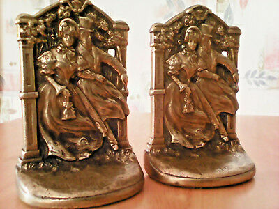 Antique Judd CJO Gilded Bronze Pair Victorian Bookends # 9662