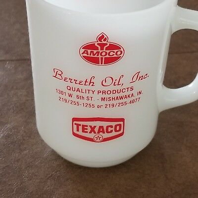 Fire King Amoco Texaco Mug Rare Find
