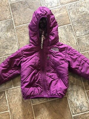 Girl North Face Reversible Coat 12-18 Month